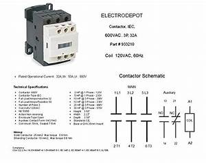 30a Contactor 3 Pole  110  120v Coil  Motor Load 32a
