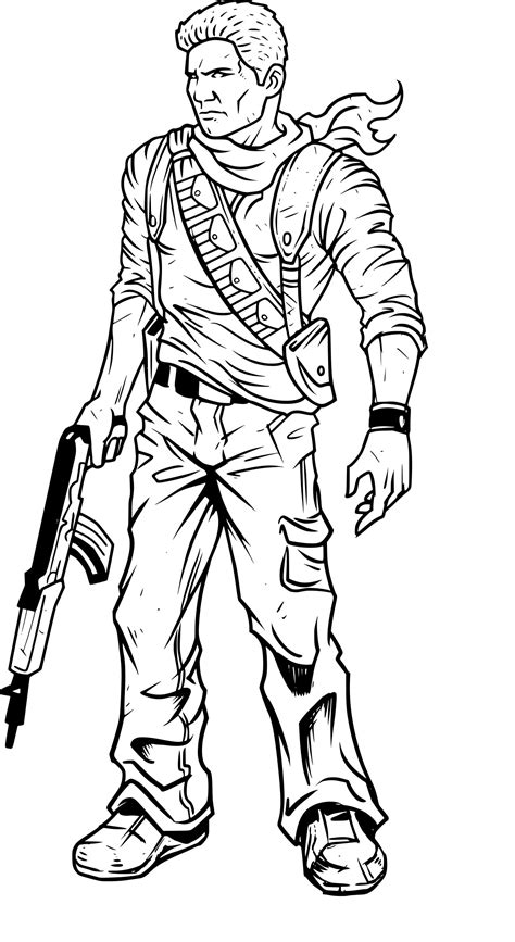 coloriage uncharted  imprimer