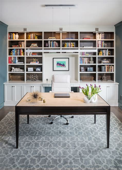 office built ins  bookcase sconce home office