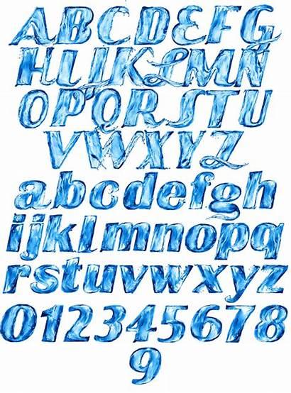 Font Water Abc Alphabet Fonts Handmadefont