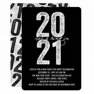 Silver 2021 Ring In The New Year Eve Holiday Party Invitation | Zazzle.ca