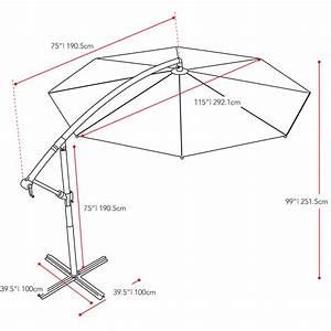 Dcor Design 10 U0026 39  Cantilever Umbrella  U0026 Reviews