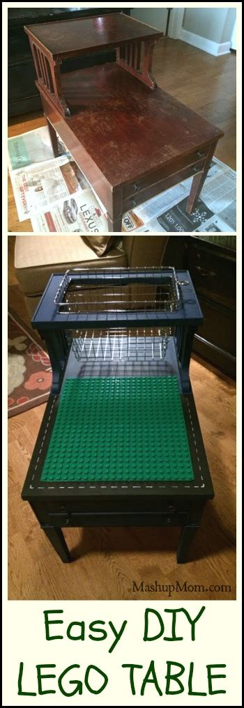 Easy Diy Lego Table! (or Duplo!  Just Line The Basket