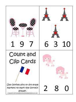 themed numbers clip it cards preschool math 261 | d80a5f336b525338cd6bb5fb86963c6e