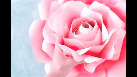 giant paper roses rose tutorial templates