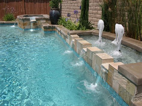 mission style wall pool water features waterfalls in san diego escondido