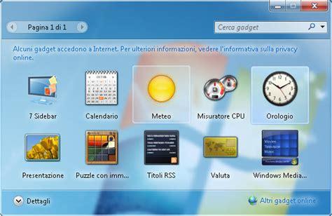 gadgets de bureau windows 7 gratuit 7 sidebar gadget télécharger