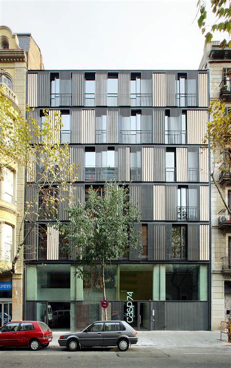 apartment building casp  bach arquitectes archdaily