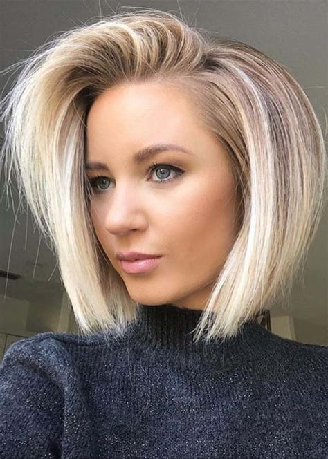 modern side swept blonde bob hairstyles   modeshack