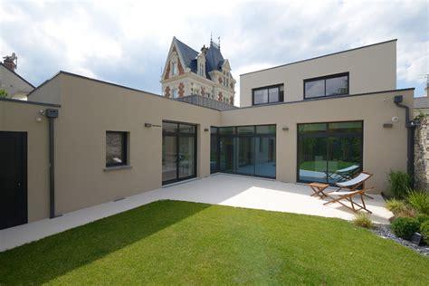meuble cuisine pour studio agencement et décoration d 39 une maison contemporaine contemporain façade angers par studio sd
