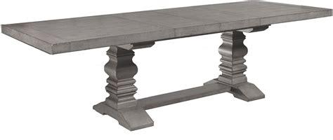 modern pedestal prospect hill gray rectangular extendable pedestal dining