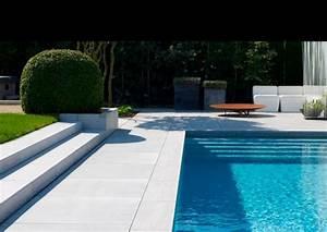 escalier exterieur jardin pour un espace vert optimise With jardin avec piscine design