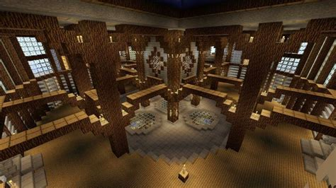 castle interior great   library minecraft designs
