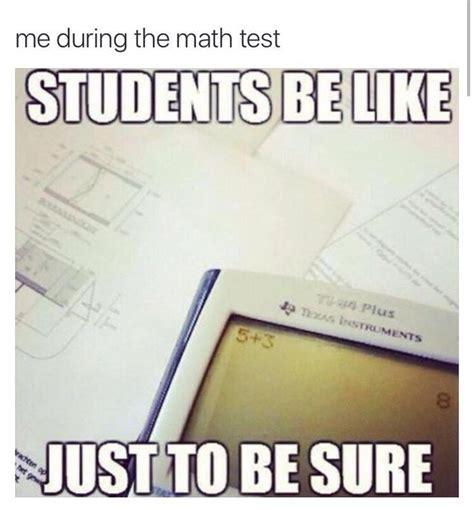 Math Test Meme - de 25 bedste id 233 er inden for math memes p 229 pinterest