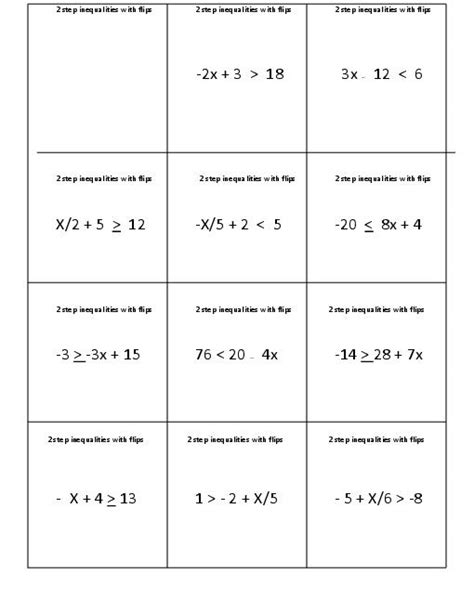 Inequality Worksheets For 6th Graders  Inequalities Worksheets Have Fun Teachingcompound