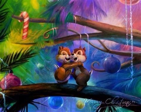 chip n dale in the christmas tree disney s adorable