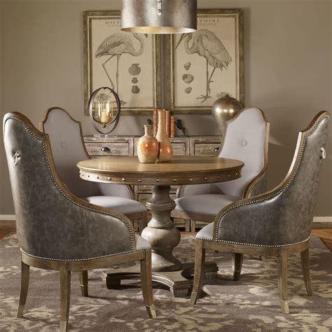 dining room grey marius country wood silver stud dining table