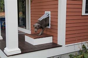 how to install a pet door a concord carpenter With how to make a dog door