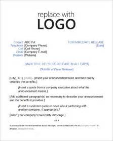 Sample Press Release Template