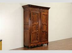 Country French Provincial 1780 Antique Cherry Armoire or