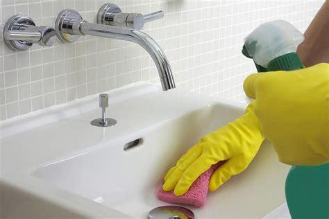 clean bathroom  kitchen sink faucets