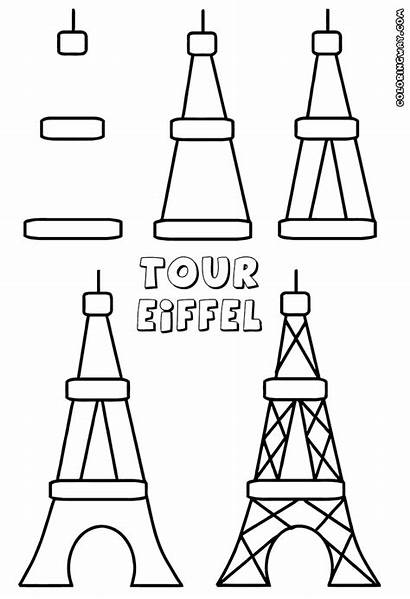 Eiffel Tower Coloring Pages Colorings Building