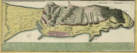 Map of Gibraltar, 1733, Homann's Heirs