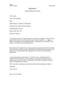 retirement letter sles resume cover letter template