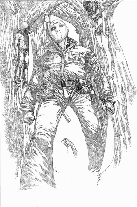 Jason Voorhees Coloring Pages   Coloring Pages   Pinterest