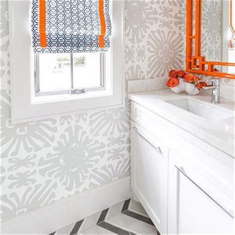 gray chevron bathroom decor gray and orange bathroom design ideas