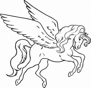 Unicorn Pegasus Coloring Pages - Coloring Home