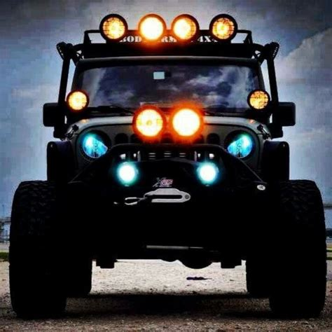 jeep headlights at night jeep good image