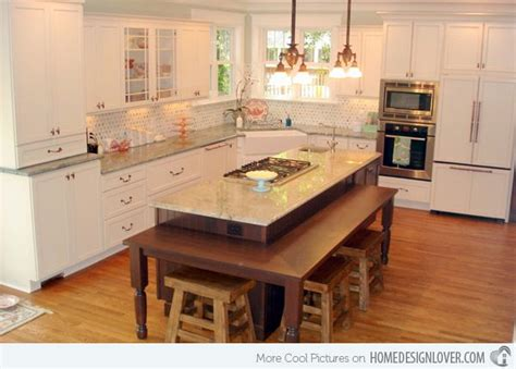 island kitchen table 15 beautiful kitchen island with table attached ideas