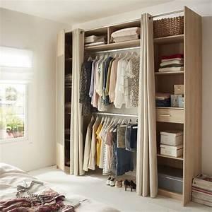 rangement dans petite chambre cheap cration meuble With maison du monde petit meuble 4 dressing portes coulissantes jesse