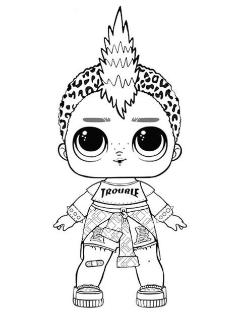 punk boi lol coloring page coloring pages punk boy