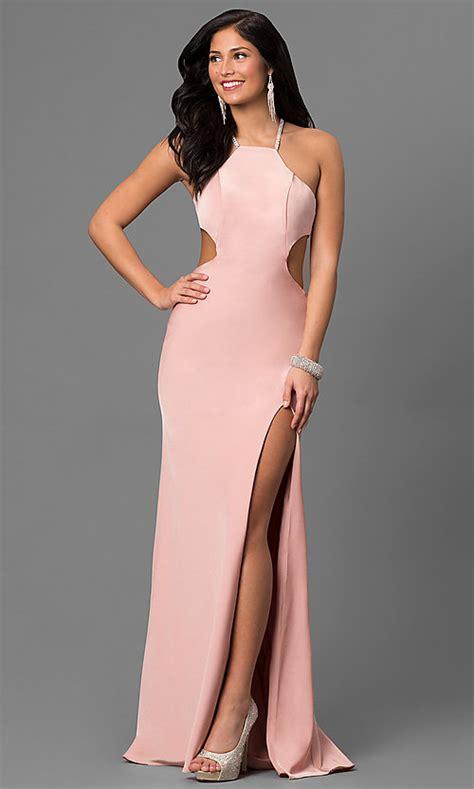 Open Back La Femme Prom Dress with Side Cut Outs