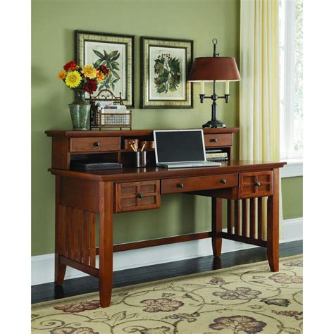 arts and crafts desk home styles arts crafts cottage oak desk with hutch 5180