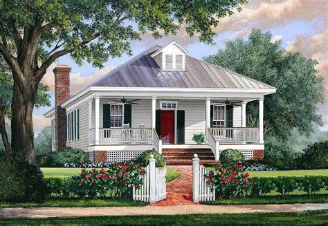 Southern Cottage House Plan With Metal Roof 32623wp