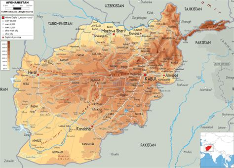 map  afghanistan  afghanistan physical map maps