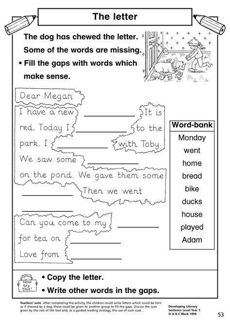 year 1 literacy sentence worksheets sentence writing activities year 1 movie