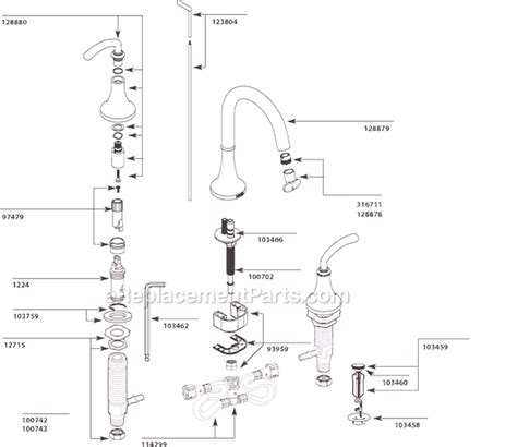 moen ts parts list  diagram ereplacementpartscom