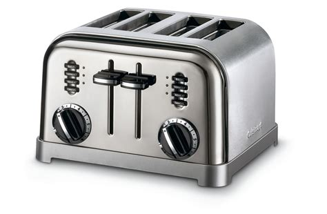 Cuisinart Toaster by Cuisinart Metal Classic 4 Slice Toaster Black Chrome