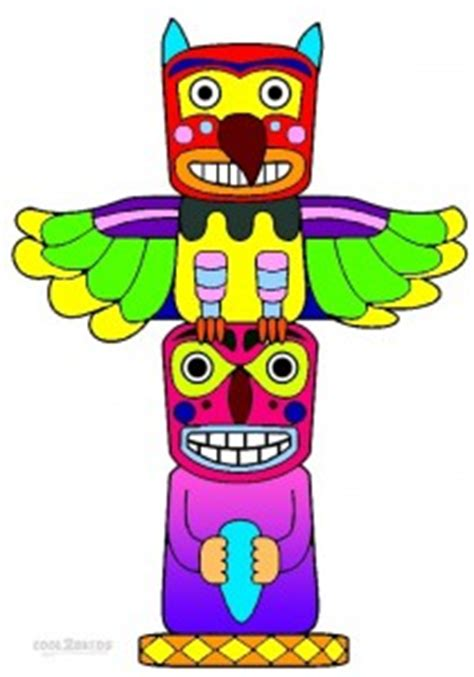 printable totem pole coloring pages  kids