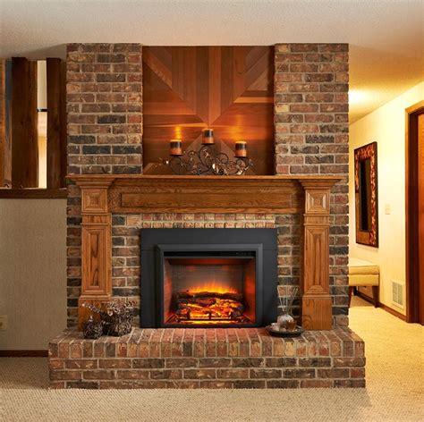 Interior. Interior Accent Ideas Using Brick Fireplace