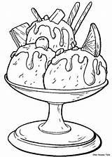 Ice Cream Glaces Coloring Coloriages Coloriage Dessin Cakes Lescoloriages Adult Precedent Suivant sketch template