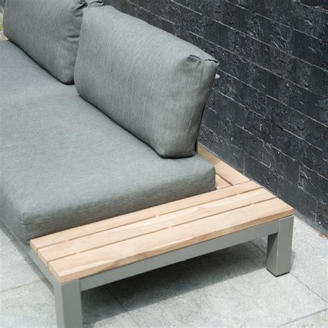 canapé teck jardin fidji canapé de jardin lounge table en teck avec 4 coussins