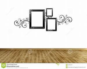 Photo frame on wall stock illustration image
