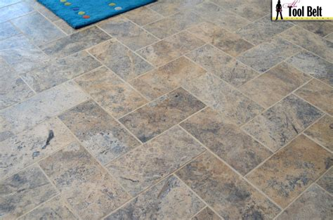 tile flooring company silver travertine tile herringbone floor tutorial