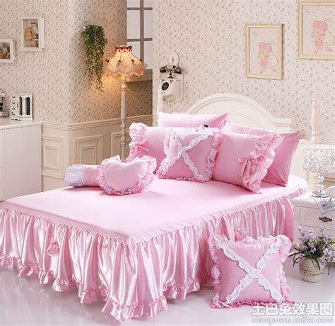 king size bed with 天猫床罩四件套图片 土巴兔装修效果图