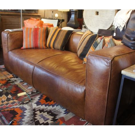 flamant canapé canapé bailey en cuir vintage par flamant